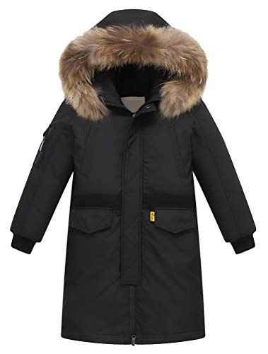 FTCayanz Kinder Daunenjacken Winterjacke mit Kapuze Lang Jacken für Jungen Mädchen Mäntel warm Wintermantel...