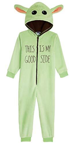 Star Wars Baby Yoda Jumpsuit Kinder, The Mandalorian Schlafoverall Kinder 4-14 Jahre, Fleece Onesie Kostüm...
