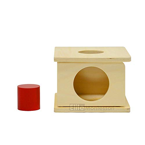 Montessori Imbucare Box with Red Cylinder