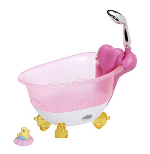 Zapf Creation 828366 BABY born Bath Badewanne mit Licht- und Sound-Effekten und Badeente, Puppenzubehör für...