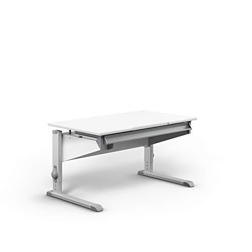 moll Sprinter Kinderschreibtisch, Holzwerkstoff, Weiß, 117,20cm × 71cm × 53-82cm