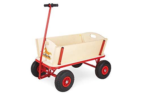 Pinolino Bollerwagen Maxi, aus massivem Holz, Oberteile komplett abnehmbar, PU-Bereifung, Tragfähigkeit 80 kg