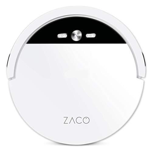ZACO V4 Saugroboter mit bürstenloser Direktabsaugung, Ideal für Tierhaare und Hartböden, Leistungsstarker...