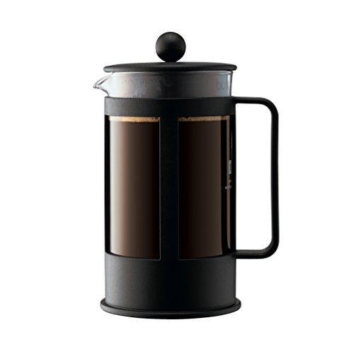 Bodum KENYA Kaffeebereiter (French Press System, Spülmaschinengeeignet, 1,0 liters) schwarz