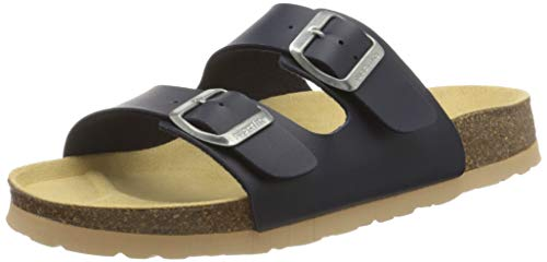 Superfit Jungen FUSSBETTPANTOFFEL_8-00111-00 Pantoffeln , Blau (Ocean 80), 36 EU