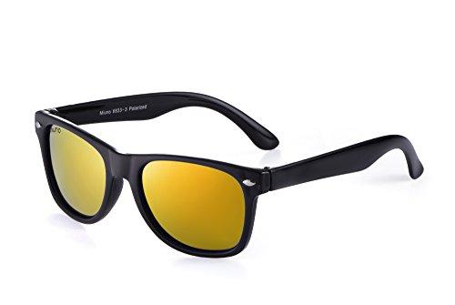 Miuno® Kinder Sonnenbrille Polarisiert Polarized Etui 6833 (Rotgoldverspiegelt)