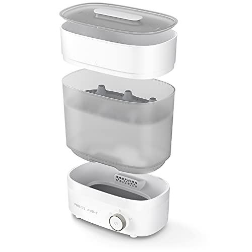 Philips Avent SCF293/00 Elektrischer Dampfsterilisator & Trockner Premium für bis zu 6 Babyflaschen, Sauger &...