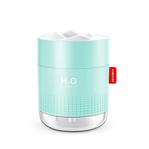 Luftbefeuchter schlafzimmer, 500 ML USB Mini Ultraschall Air Humidifier Leise Raumluftbefeuchter-Bis zu 10-16...