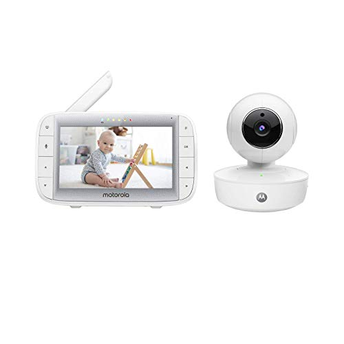 Motorola Baby MBP50A Video Baby Monitor with 5' Inch Handheld Parent Unit, Room Temperature Display, Infared...