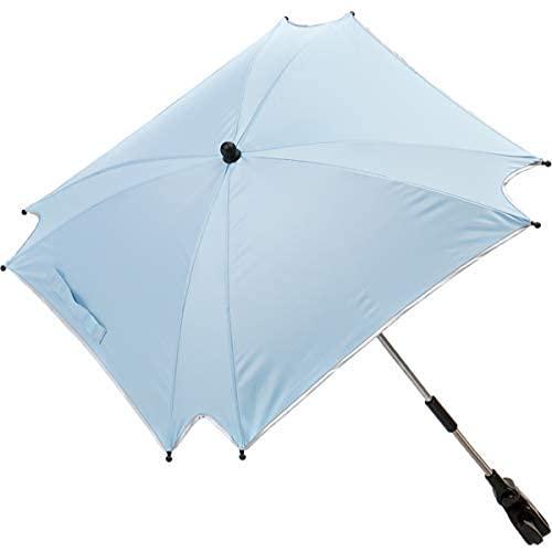 XL SONNENSCHIRM für Kinderwagen und Buggys UV-SCHUTZ 50 / Schirm (WASSERDICHT) (HELLBLAU)