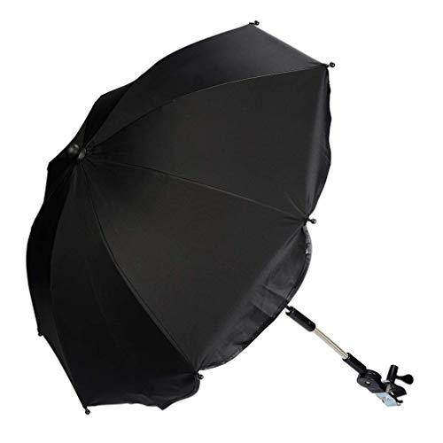 Kinderwagen Regenschirm Universal Sonnenschirm Sonnenschutz für Kinderwagen & Buggy UV Schutz 50+ Babywagen...