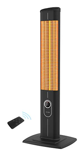 ICQN Stand Heizstrahler mit Fernbedienung | 2500 Watt | Infarot | Infarotheizung für Innen- & Außenbereich |...