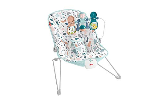 Fisher-Price GWD38 - Basis Wippe mit beruhigenden Schwingungen bis 9kg, Babyausstattung ab Geburt