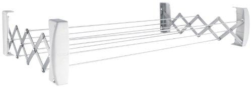 Leifheit Wandtrockner Teleclip 74 Extendable, 7,4m Trockenleine, ausziehbarer Wandtrockner, platzsparender...