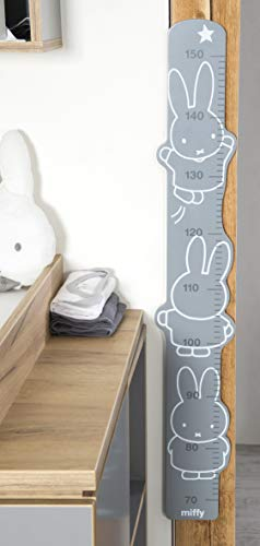 """roba Meßlatte """"miffy"""", bedruckt, Wachstumsmesser mit Skala von 70 bis 150 cm für Kinder, Messleiste,..."""