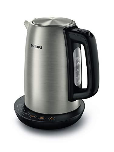 Philips HD9359/90 Wasserkocher aus Edelstahl für Tee bis Babynahrung (2200 Watt, 1,7 Liter,...