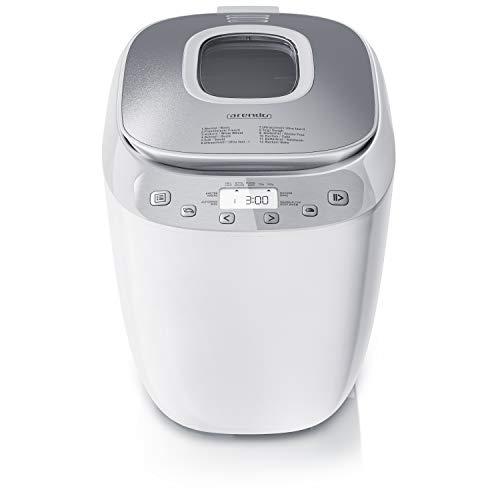 Arendo - Brotbackautomat BPA frei - Brotbackmaschine 12 Programme - glutenfrei Backen - 700-1000 g -...