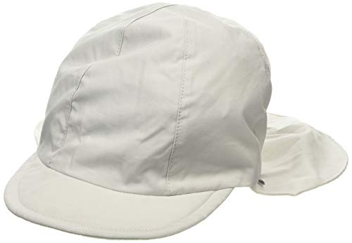 Sterntaler Unisex Schirmmütze mit Nackenschutz und Bindebändern, Alter: 2-4 Jahre, Größe: 53, Lichtgrau