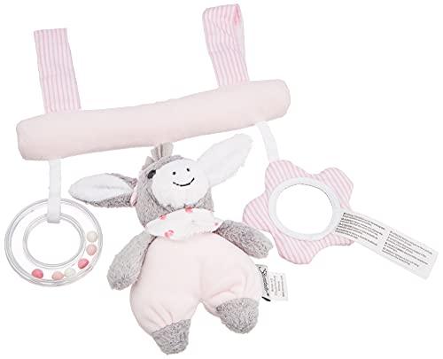 Sterntaler 6601838 Spielzeug zum Aufhängen mit Klettverschluss, Esel Emmi Girl, Inklusive Rassel, Alter: Für...