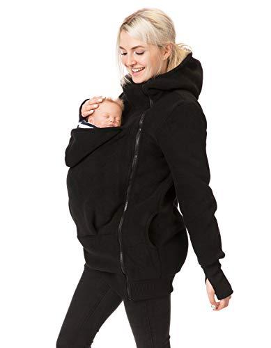 GoFuture 4in1 Babytragejacke für Mama,Papa und Baby Känguru Tragejacke aus Fleece mit Baby und...