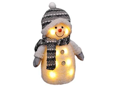 Gravidus - Süßer Schneemann mit Mütze, Schal & Handschuhen   Weihnachtsbeleuchtung, Weihnachtsfigur,...
