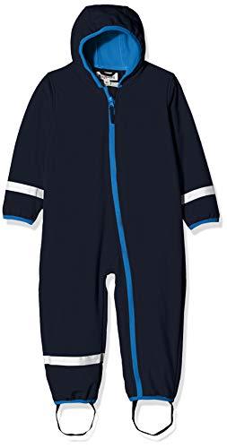 Playshoes Baby-Unisex Softshell-Overall Fleece gefüttert Schneeanzug, Blau, 80
