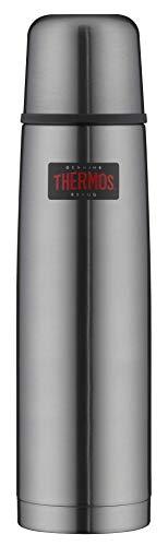 THERMOS 4019.218.100 Thermosflasche Light & Compact, Edelstahl Cool Grey 1,0 l, Spülmaschinenfest, 24 Stunen...