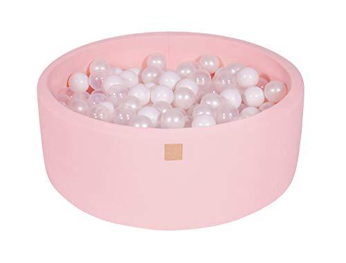 MEOWBABY Bällebad 90X30cm/200 Bälle ∅ 7Cm Rund Bällepool Für Kinder Spielbad Ball Pit Kinderzimmer...
