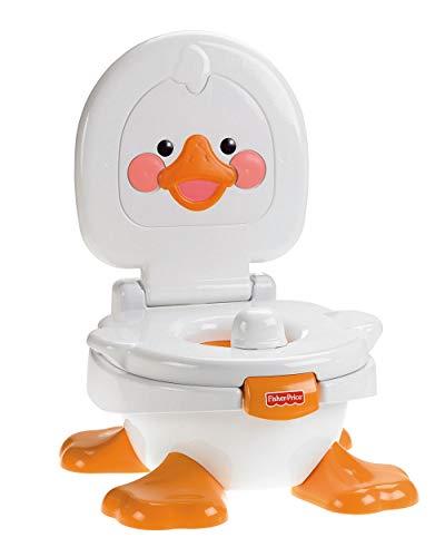Fisher-Price T6211 - Ducky Töpfchen und Fußbank Toilettentrainer, mitwachsender Toilettensitz für...