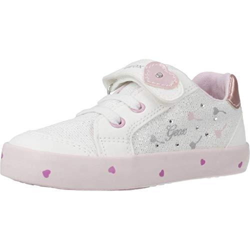 Geox Baby Mädchen B Kilwi Girl D Sneaker, Weiß (White/Pink C0406), 23 EU