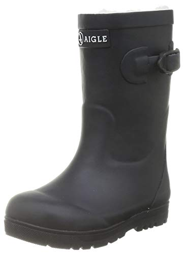 Aigle Woodypop Fur Gummistiefel, Marine, 38 EU
