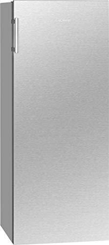Bomann Vollraumkühlschrank VS 7316 inox/LED-Beleuchtung/Wechselbarer Türanschlag/Nutzinhalt: 242 Liter