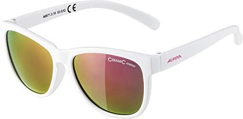 ALPINA Unisex - Kinder, LUZY Sonnenbrille, white gloss, One Size