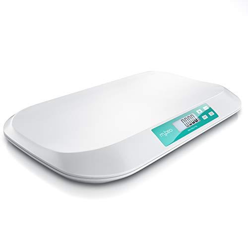 MyBeo - Babywaage digital - Wiegefläche 54 x 26 cm - 50 g bis 20 kg - 5 Gramm Genauigkeit - Tierwaage -...