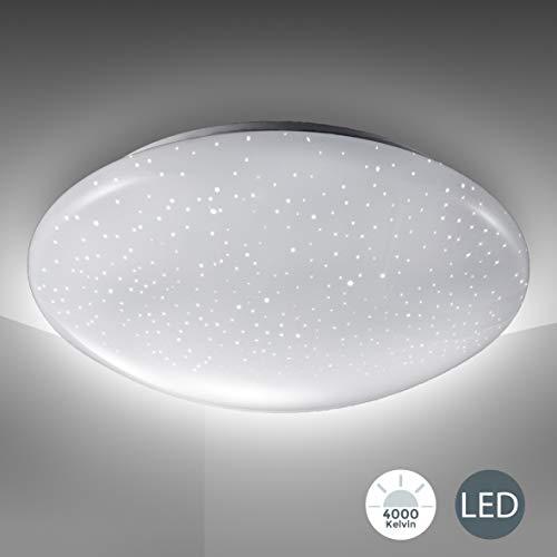 LED Deckenlampe inkl. 12W 1200lm LED Platine, Sternenlicht, Deckenleuchte 4000K neutralweiß, 230V, IP20, Ø...