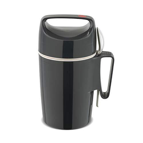 ROTPUNKT Speisegefäß 850 Dirk 0,85 l | BPA frei | Glaseinsatz | hochwertig | Slate Grey