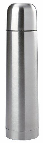 Mack Thermosflasche mit Druckverschluss 0.75L Edelstahl-Isolierflasche mit Becher im Deckel 0,75L Thermoskanne...