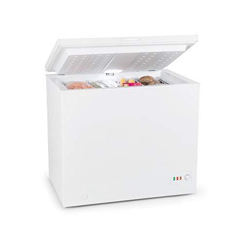 Klarstein Iceblokk Eco Gefriertruhe, 4 Sterne, 200 Liter Volumen, EcoGreen Cooling: C, Temperaturregler und 3...
