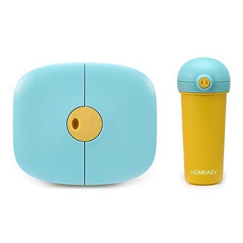 homeasy Bento Box Kinder Auslaufsiche Bento Brotdose mit Wasserflasche für Kindergarten BPA Frei Unterteilung...