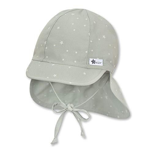 Sterntaler Unisex Baby Schirmmátze M. Nackenschutz 1512130 Winter Hut, Türkis, 45 EU