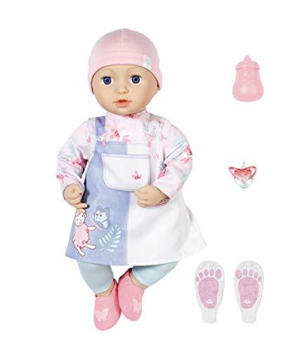 Zapf Creation 705940 Baby Annabell Mia 43 cm - weiche Puppe mit Schlafaugen mit Kleid, Leggings, Mütze und...