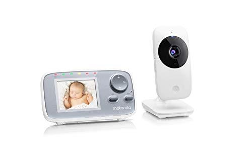 Motorola Baby MBP 482 Video Babyphone / Baby-Überwachungskamera mit Zoom / 2.4 Zoll Farbdisplay /...