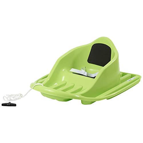 Stiga Sports Unisex Baby Schlitten Snow Cruiser Froggy Babyschlitten, Grün, M