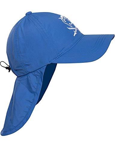 iQ-Company Kinder Cap IQ UV 200 Kids und Neck Jolly Fish, Blau (Dark-Blue), Gr. 50-55cm