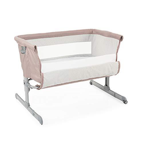 Chicco Next2Me Beistellbett Babybett mit Matratze, Abnehmbare Seite, Höhenverstellbar, Netzfenster, 2 Rollen...