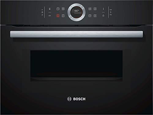 Bosch CMG633BB1 Serie 8 Einbau-Kompaktbackofen mit Mikrowellenfunktion / 900 W / 45 L / Schwart / Klapptür /...