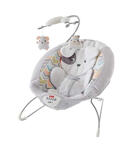 Fisher-Price GWD50 Deluxe Elektrische Baby Wippe im Hundebaby Design mit beruhigenden Schwingungen und Musik...