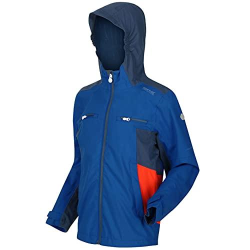 Regatta Junior Highton II Wasserdichte und atmungsaktive reflektierende Shell-Jacke mit Kapuze und Netzfutter