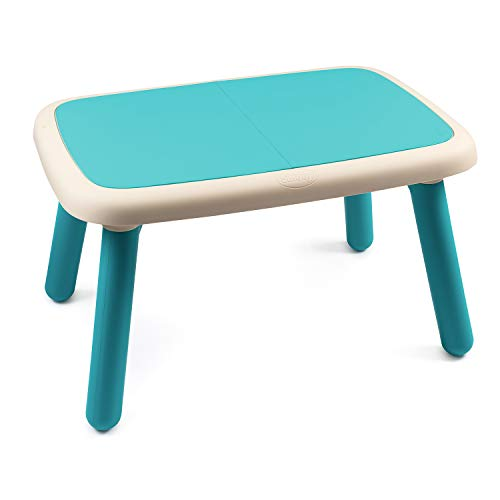Smoby - Kid Tisch Blau – Design Kindertisch für Kinder ab 18 Monaten, für Innen und Außen, Kunststoff,...