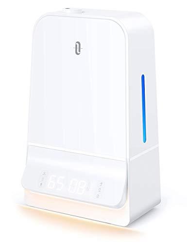 TaoTronics 6L Luftbefeuchter Ultraschall, Raumbefeuchter Leise mit LED-Anzeige Timer und Feuchtemonitor,...